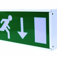 Emergency Exit Box 8W T5 Maintained c/w Down Arrow legend