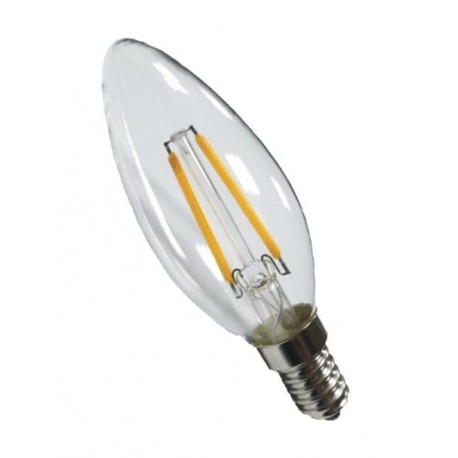 Deco led Filament- Candle -Warm white- finish clear