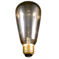 Deco-230V- 60W gold coated brass base