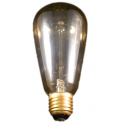 Deco Lamps - 230V 60W gold coated brass base